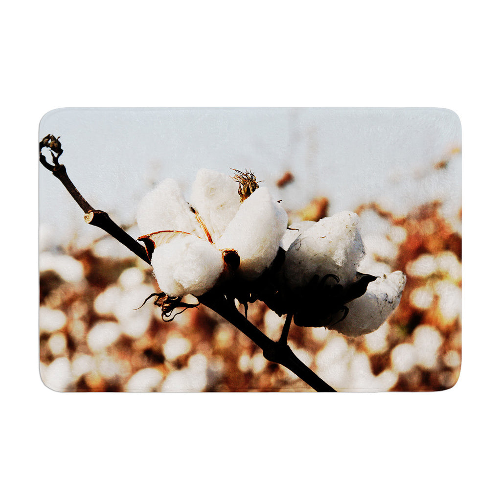 "Beth Engel ""Southern Snow"" Cotton Memory Foam Bath Mat - KESS InHouse"