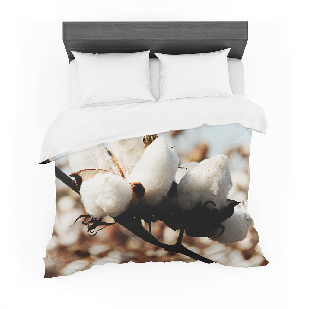 "Beth Engel ""Southern Snow"" Cotton Featherweight Duvet Cover"