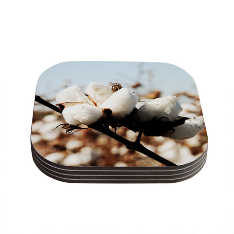 "Beth Engel ""Southern Snow"" Cotton Coasters (Set of 4)"