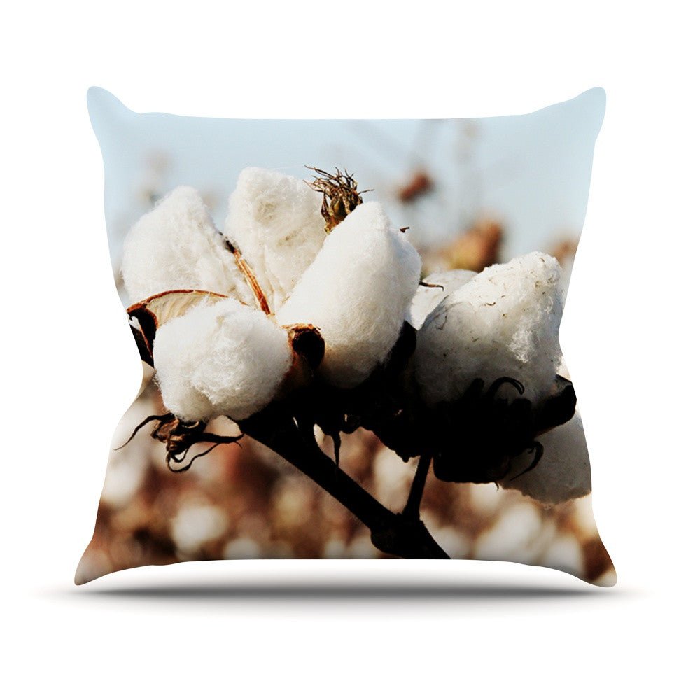 "Beth Engel ""Southern Snow"" Cotton Throw Pillow - KESS InHouse  - 1"