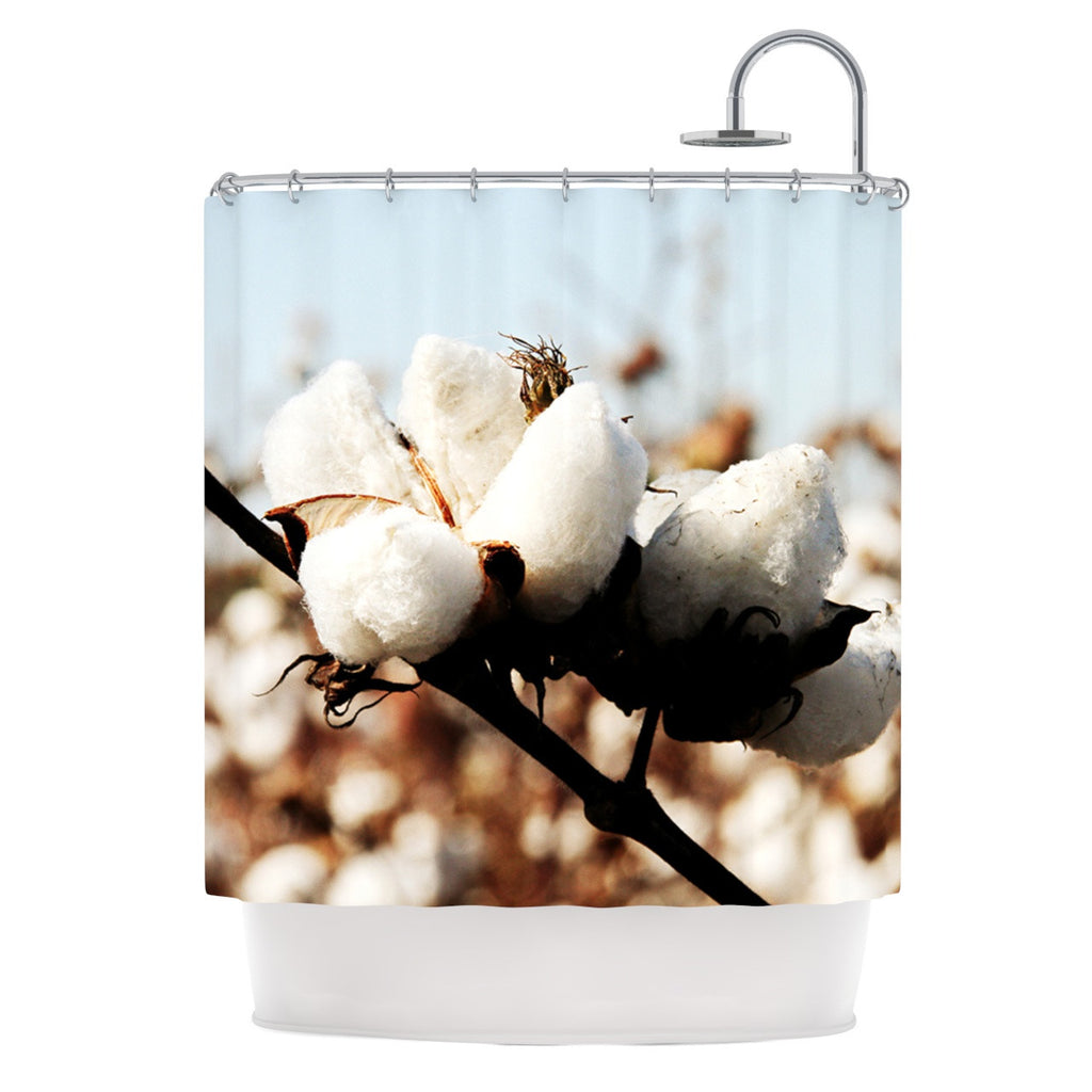 "Beth Engel ""Southern Snow"" Cotton Shower Curtain - KESS InHouse"