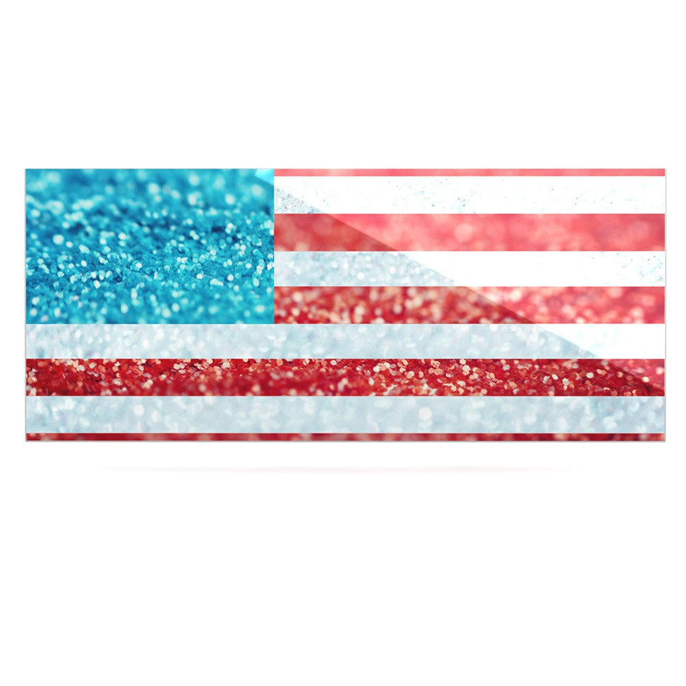 "Beth Engel ""Red White and Glitter"" Flag Luxe Rectangle Panel - KESS InHouse  - 1"