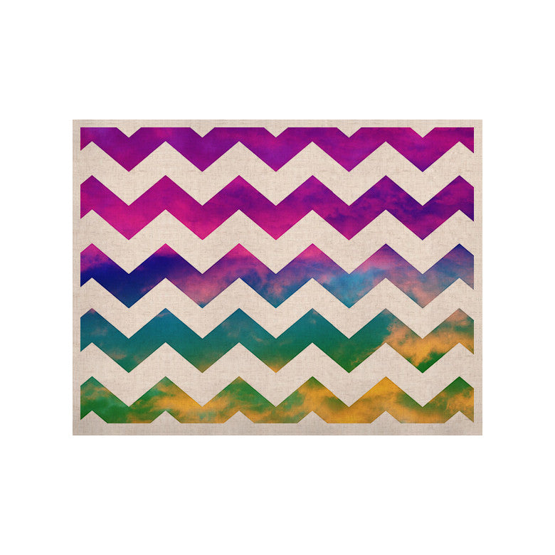 "Beth Engel ""Lucky Chevron"" KESS Naturals Canvas (Frame not Included) - KESS InHouse  - 1"
