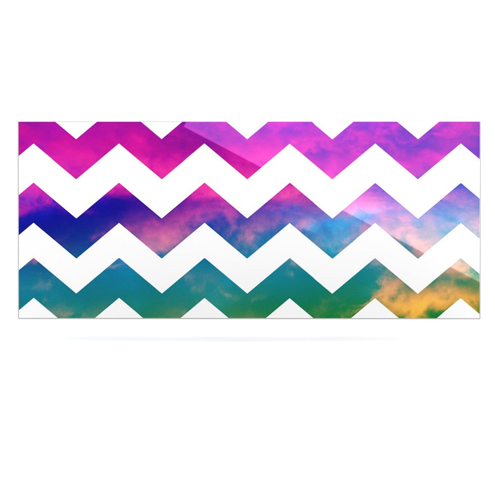 "Beth Engel ""Lucky Chevron"" Luxe Rectangle Panel - KESS InHouse  - 1"