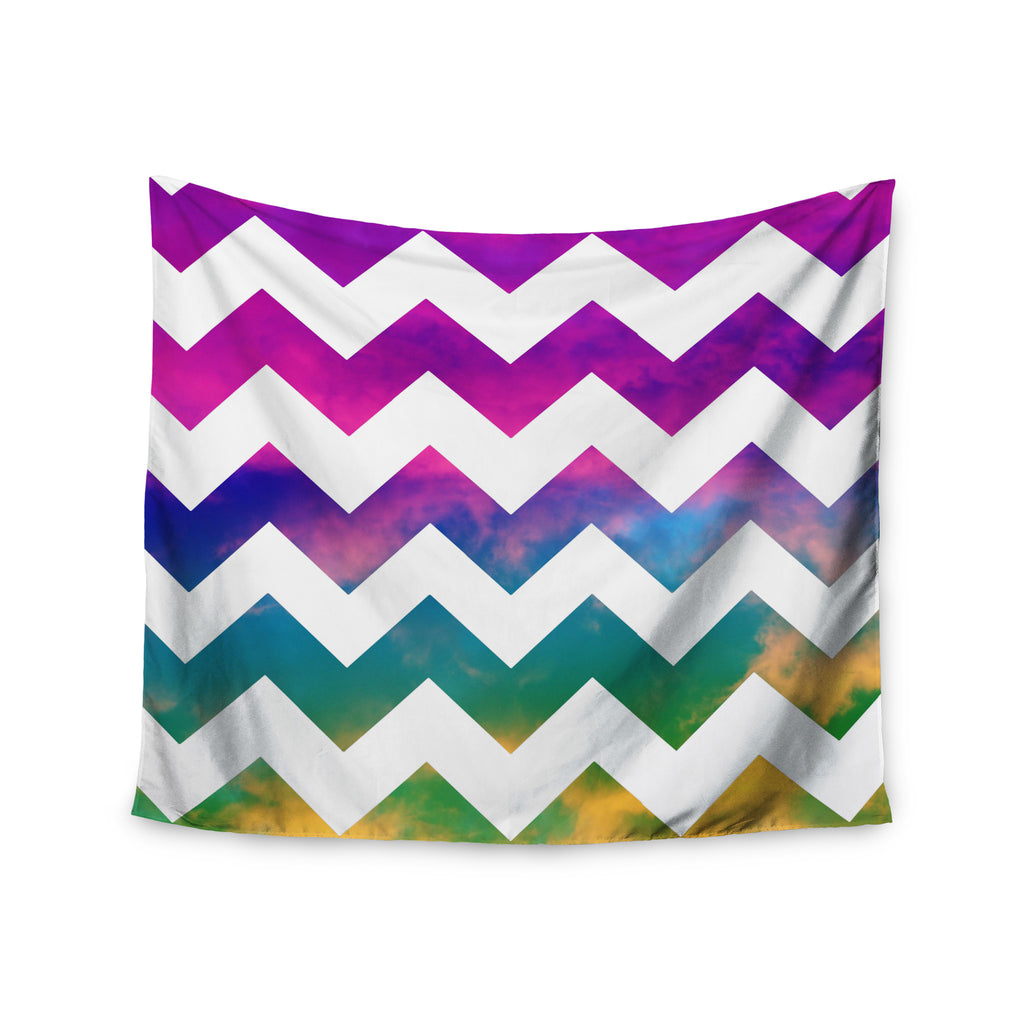 "Beth Engel ""Lucky Chevron"" Wall Tapestry - KESS InHouse  - 1"