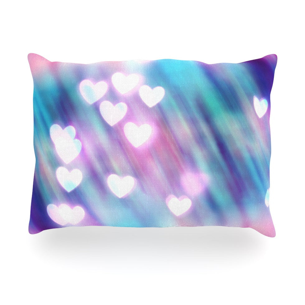 "Beth Engel ""Your Love is Sweet Like Candy"" Heart Oblong Pillow - KESS InHouse"