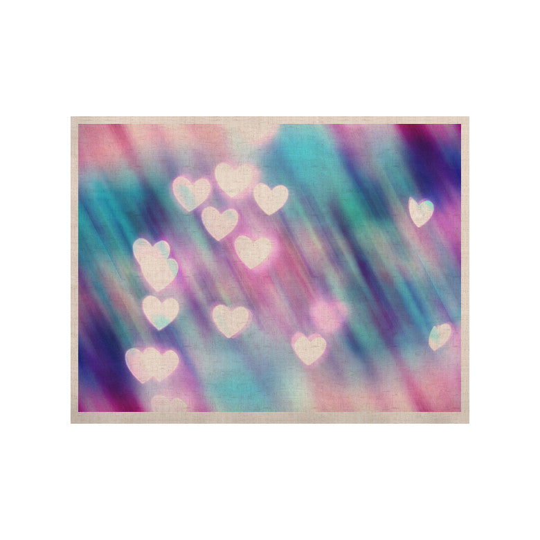 "Beth Engel ""Your Love is Sweet Like Candy"" Heart KESS Naturals Canvas (Frame not Included) - KESS InHouse  - 1"