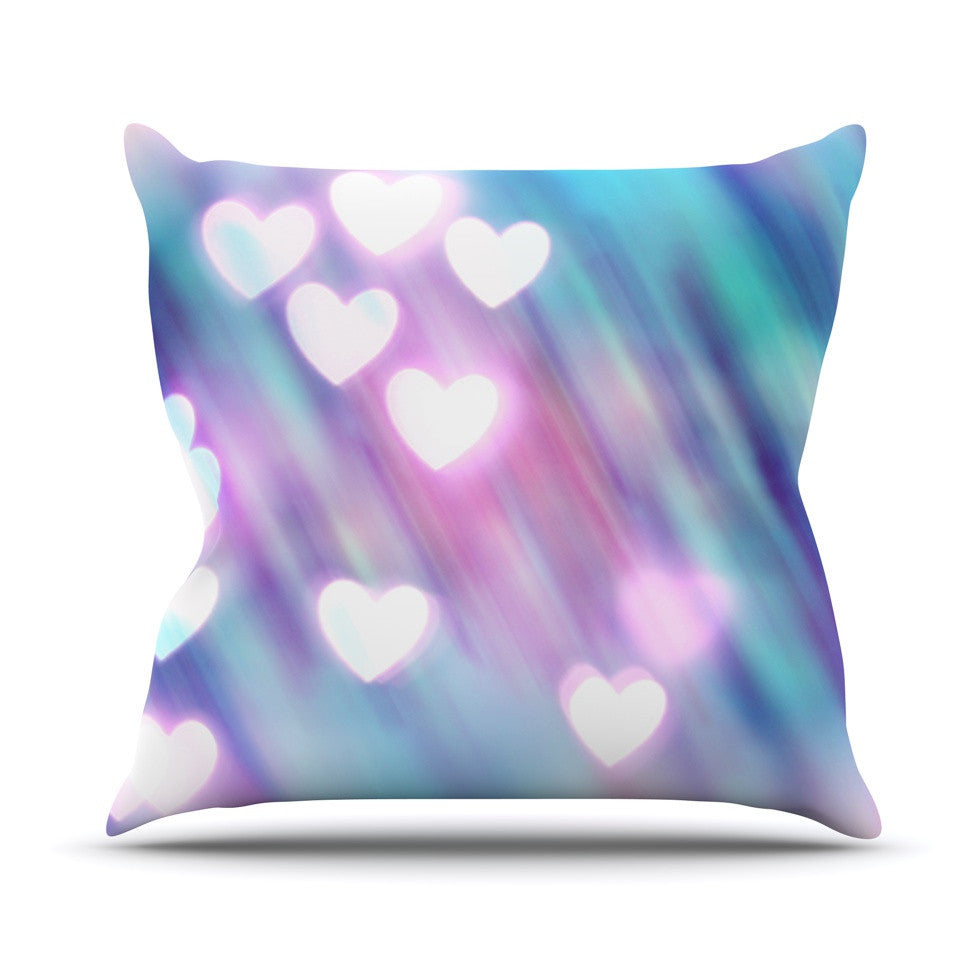 "Beth Engel ""Your Love is Sweet Like Candy"" Heart Outdoor Throw Pillow - KESS InHouse  - 1"