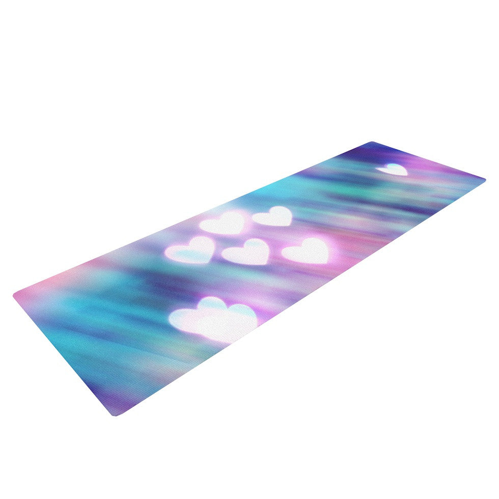 "Beth Engel ""Your Love is Sweet Like Candy"" Heart Yoga Mat - KESS InHouse  - 1"