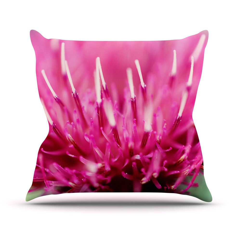 "Beth Engel ""Frosted Tips"" Outdoor Throw Pillow - KESS InHouse  - 1"