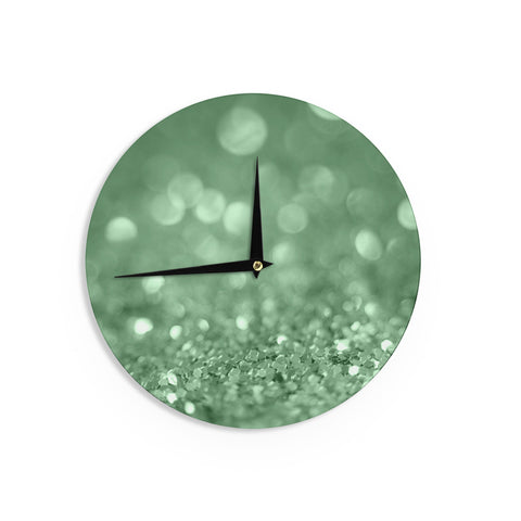 "Beth Engel ""Lucky Shamrock"" Wall Clock - KESS InHouse"