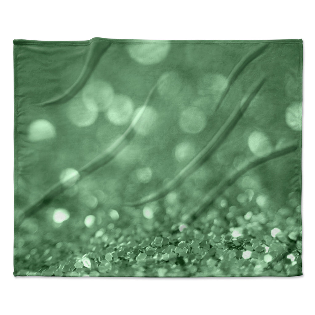 "Beth Engel ""Lucky Shamrock"" Fleece Throw Blanket"