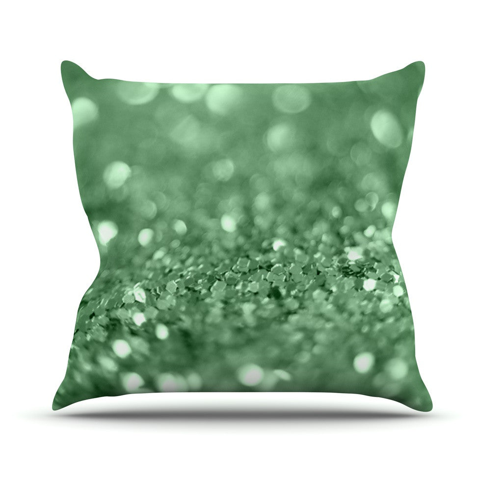 "Beth Engel ""Lucky Shamrock"" Throw Pillow - KESS InHouse  - 1"