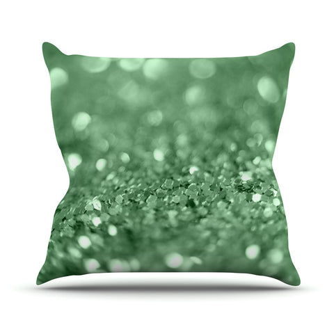 "Beth Engel ""Lucky Shamrock"" Outdoor Throw Pillow - KESS InHouse  - 1"