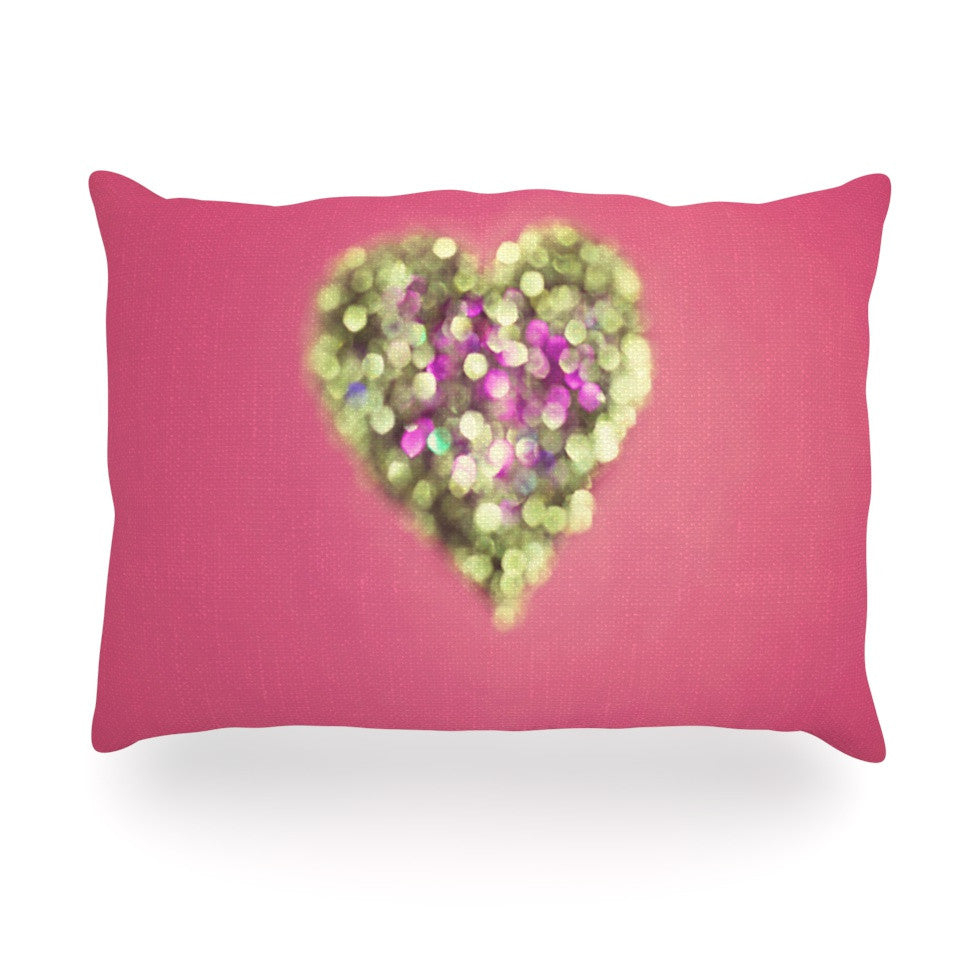 "Beth Engel ""Make Your Love Sparkle"" Oblong Pillow - KESS InHouse"