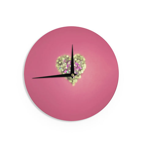 "Beth Engel ""Make Your Love Sparkle"" Wall Clock - KESS InHouse"