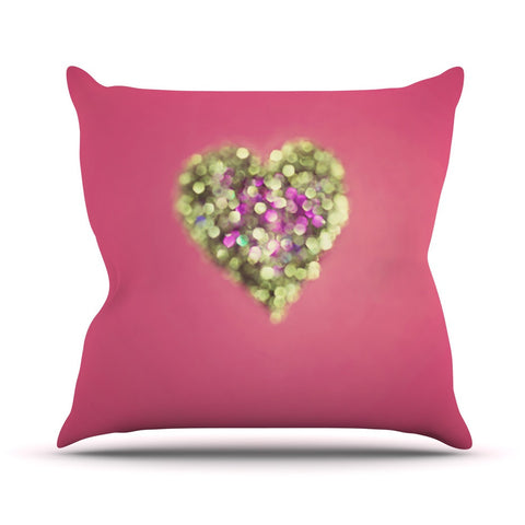 "Beth Engel ""Make Your Love Sparkle"" Outdoor Throw Pillow - KESS InHouse  - 1"