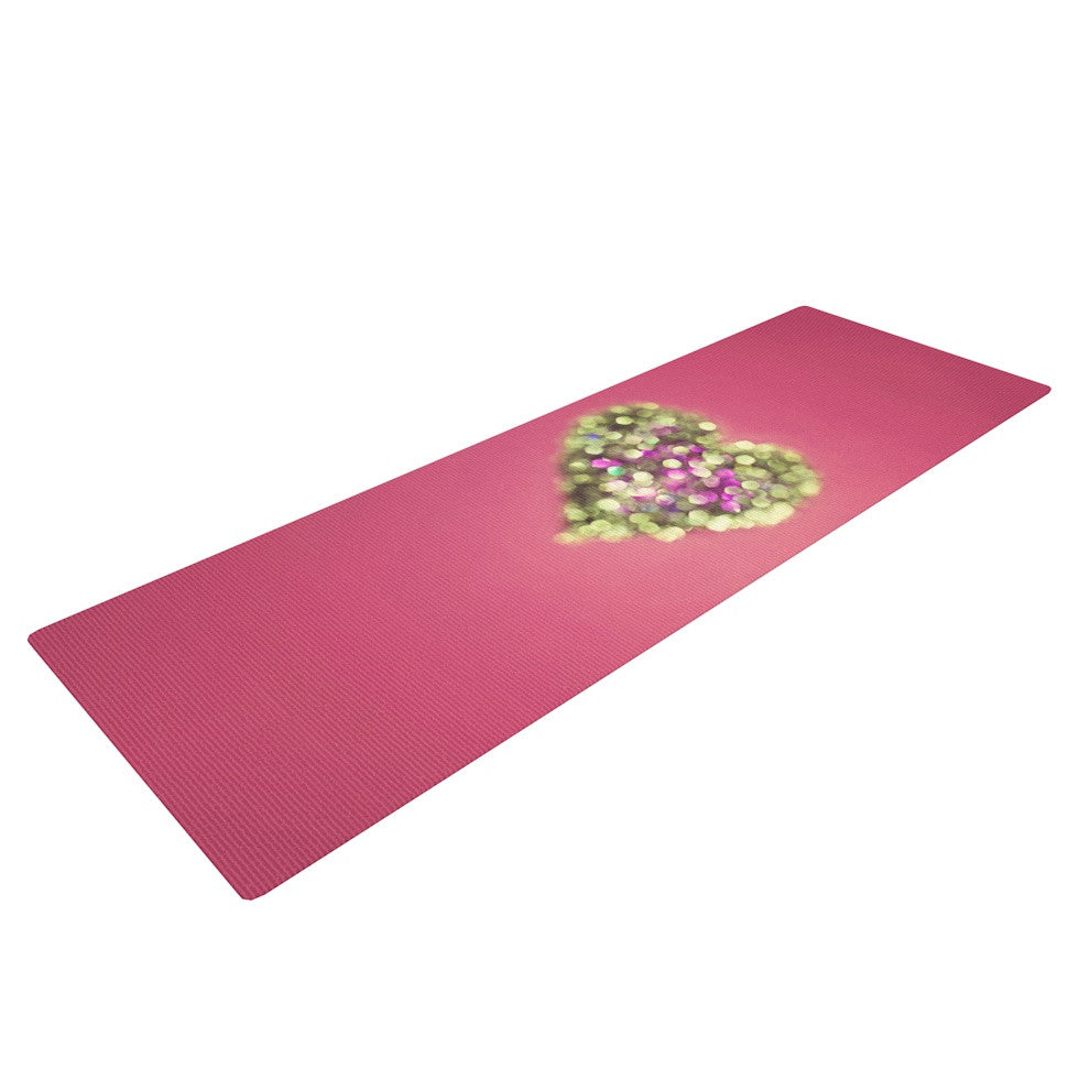 "Beth Engel ""Make Your Love Sparkle"" Yoga Mat - KESS InHouse  - 1"