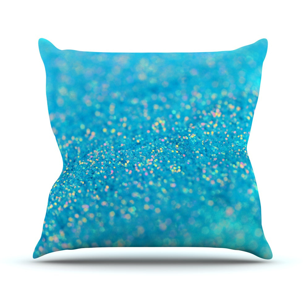"Beth Engel ""Mermaid Sparkles"" Throw Pillow - KESS InHouse  - 1"