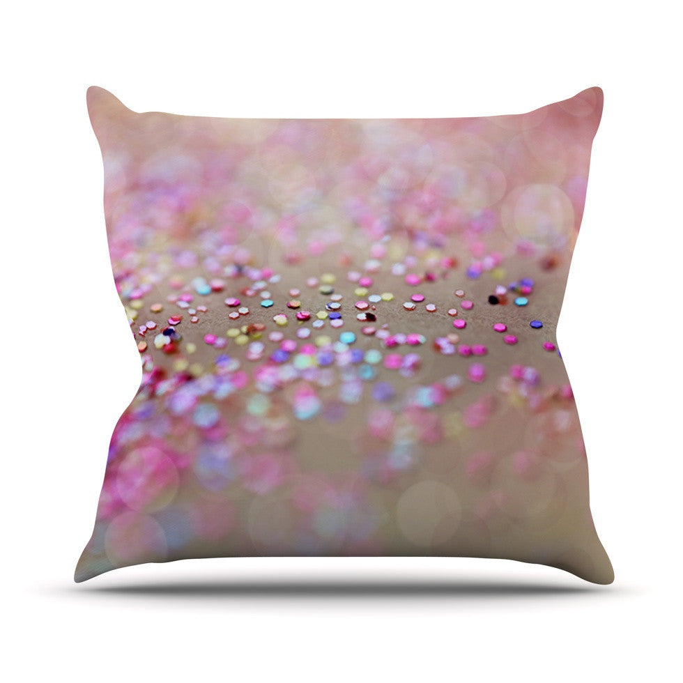"Beth Engel ""Princess Confetti"" Outdoor Throw Pillow - KESS InHouse  - 1"