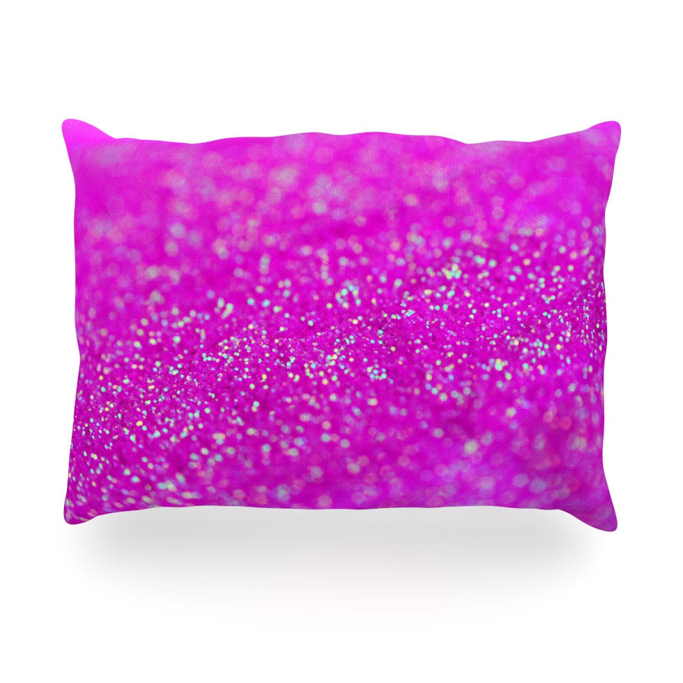 "Beth Engel ""Raspberry Sorbet"" Oblong Pillow - KESS InHouse"