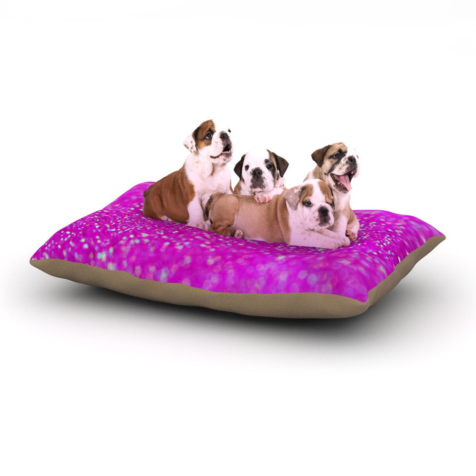 "Beth Engel ""Raspberry Sorbet"" Dog Bed - KESS InHouse  - 1"