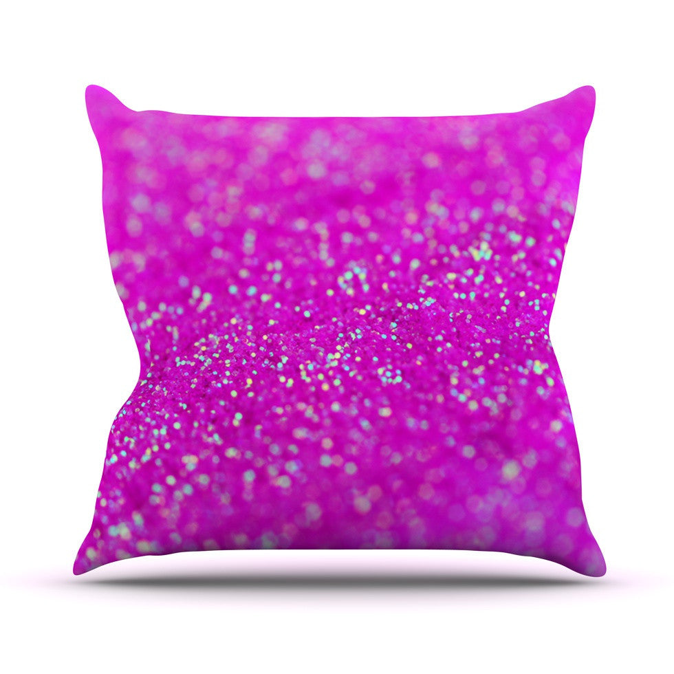 "Beth Engel ""Raspberry Sorbet"" Outdoor Throw Pillow - KESS InHouse  - 1"