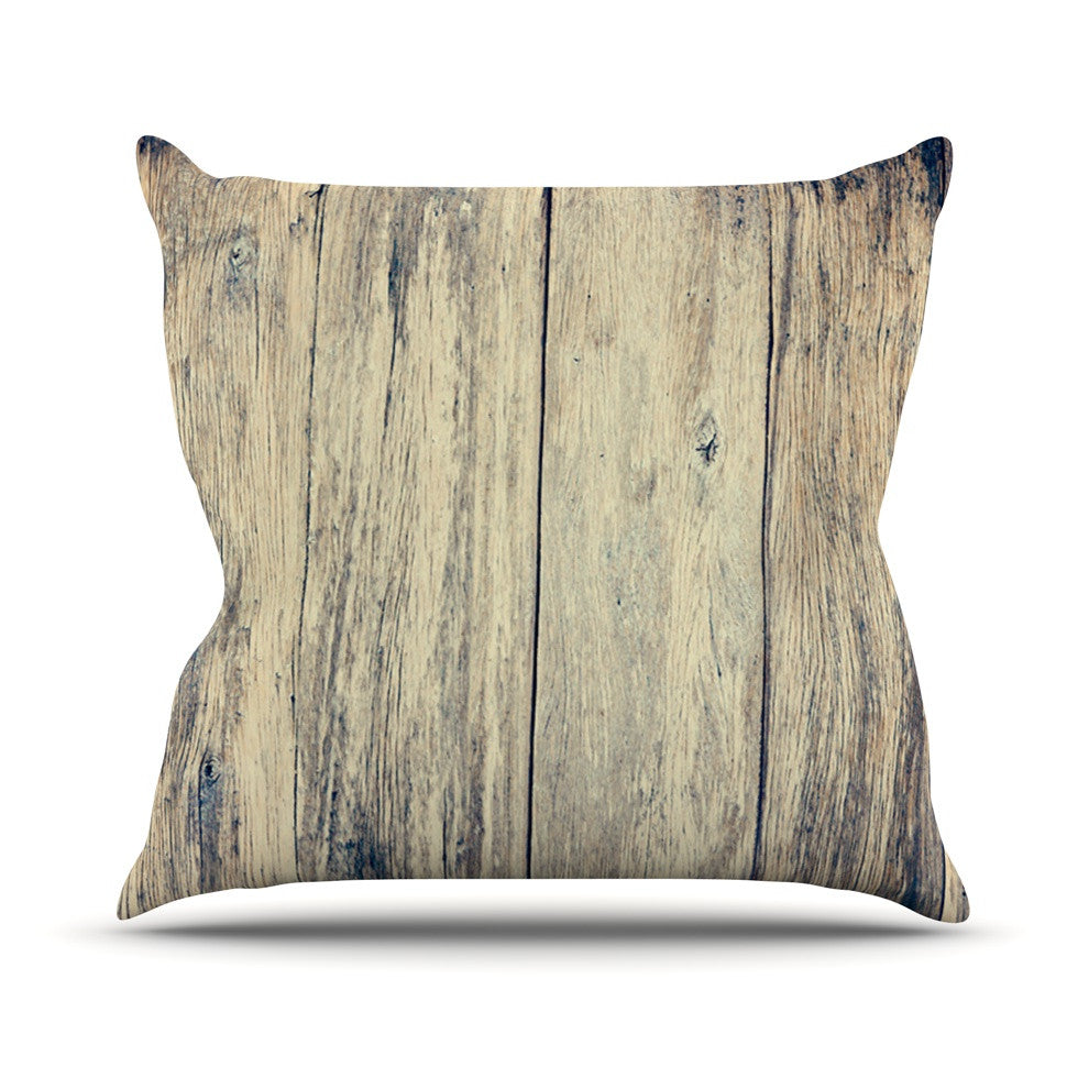 "Beth Engel ""Wood Photography II"" Throw Pillow - KESS InHouse  - 1"