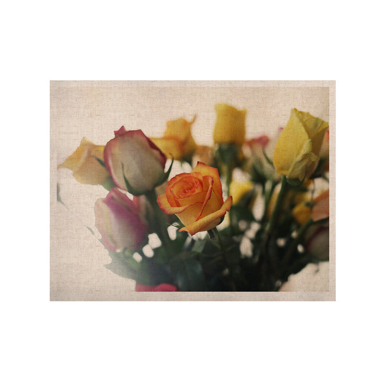 "Beth Engel ""Sweet Reminder"" Flowers Yellow KESS Naturals Canvas (Frame not Included) - KESS InHouse  - 1"