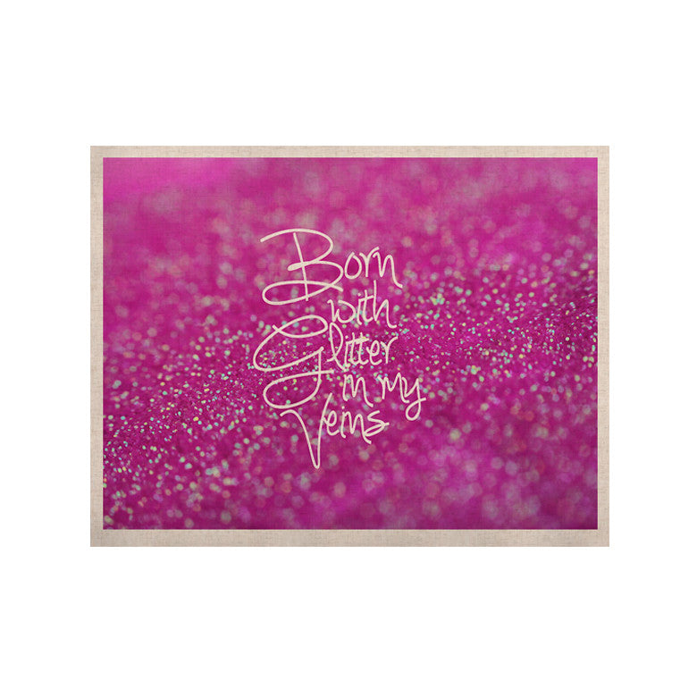 "Beth Engel ""Born with Glitter"" Pink Sparkle KESS Naturals Canvas (Frame not Included) - KESS InHouse  - 1"