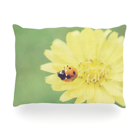 "Beth Engel ""Little Lady"" Ladybug Oblong Pillow - KESS InHouse"