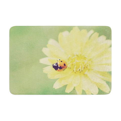 "Beth Engel ""Little Lady"" Ladybug Memory Foam Bath Mat - KESS InHouse"
