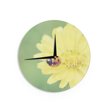 "Beth Engel ""Little Lady"" Ladybug Wall Clock - KESS InHouse"