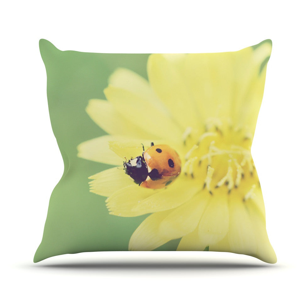 "Beth Engel ""Little Lady"" Ladybug Throw Pillow - KESS InHouse  - 1"