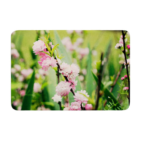 "Beth Engel ""The Best Things in Life Are Pink"" Green Pink Memory Foam Bath Mat - KESS InHouse"