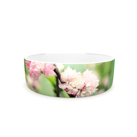 "Beth Engel ""The Best Things in Life Are Pink"" Green Pink Pet Bowl - KESS InHouse"