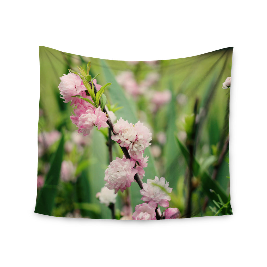 "Beth Engel ""The Best Things in Life Are Pink"" Green Pink Wall Tapestry - KESS InHouse  - 1"