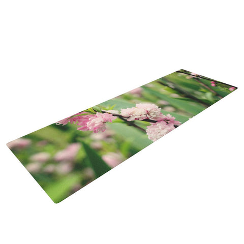 "Beth Engel ""The Best Things in Life Are Pink"" Green Pink Yoga Mat - KESS InHouse  - 1"