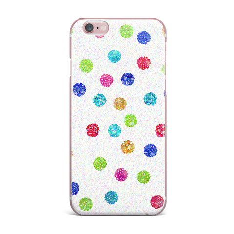 "Beth Engel ""Seeing Dots"" Rainbow White iPhone Case - KESS InHouse"