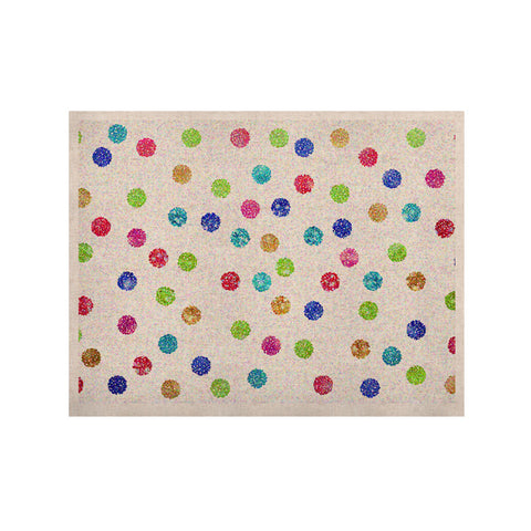 "Beth Engel ""Seeing Dots"" Rainbow White KESS Naturals Canvas (Frame not Included) - KESS InHouse  - 1"