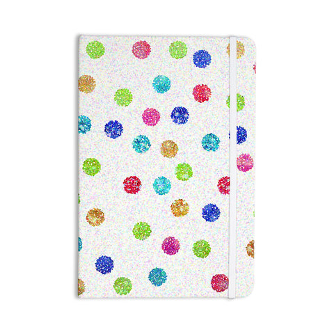 "Beth Engel ""Seeing Dots"" Rainbow White Everything Notebook - KESS InHouse  - 1"