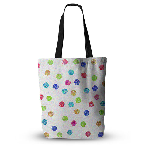 "Beth Engel ""Seeing Dots"" Rainbow White Everything Tote Bag - Outlet Item"