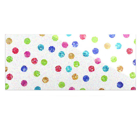 "Beth Engel ""Seeing Dots"" Rainbow White Luxe Rectangle Panel - KESS InHouse  - 1"