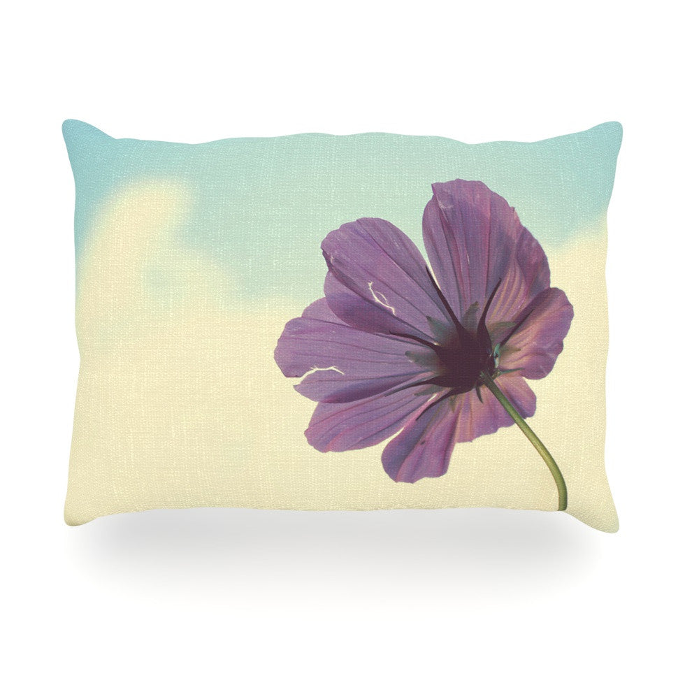 "Beth Engel ""Torn But Never Broken"" Purple Flower Oblong Pillow - KESS InHouse"