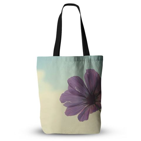 "Beth Engel ""Torn But Never Broken"" Purple Flower Everything Tote Bag - KESS InHouse  - 1"