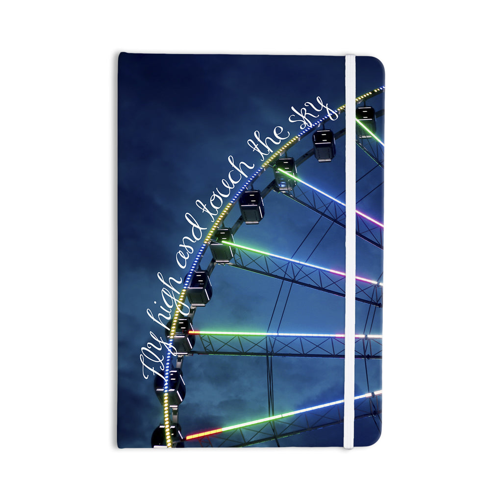 "Beth Engel ""Fly High And Touch The Sky"" Navy Blue Everything Notebook - KESS InHouse  - 1"