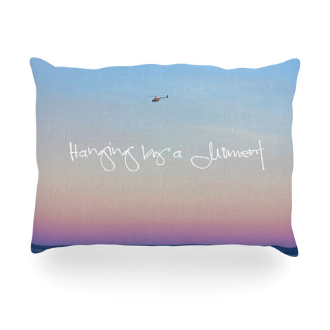 "Beth Engel ""Hanging By A Moment"" Sky Blue Oblong Pillow - KESS InHouse"