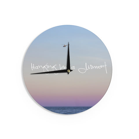 "Beth Engel ""Hanging By A Moment"" Sky Blue Wall Clock - KESS InHouse"
