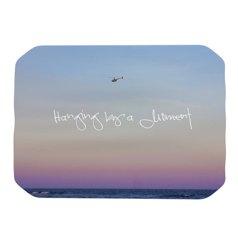 "Beth Engel ""Hanging By A Moment"" Sky Blue Place Mat - KESS InHouse"