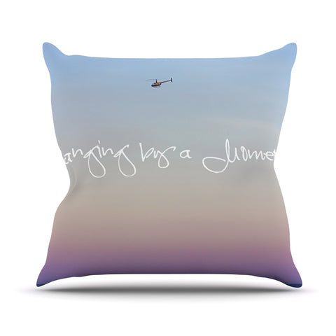 "Beth Engel ""Hanging By A Moment"" Sky Blue Outdoor Throw Pillow - KESS InHouse  - 1"